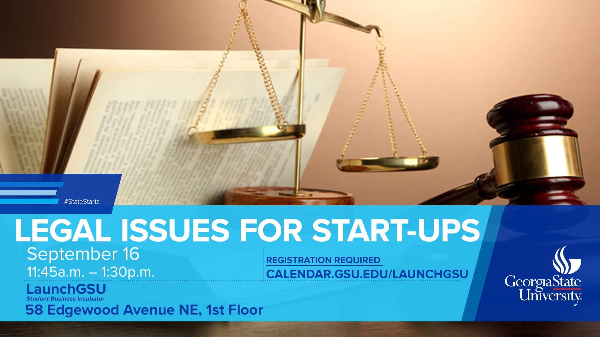 Flyer for Legal Issues for Startups Event